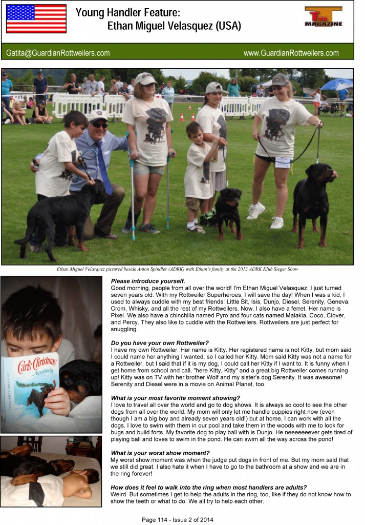 G:Magazine Issue 2 of 2014Young HandlerYoung Handler - ISsue